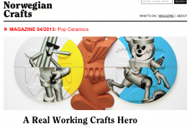 Norwegian Crafts front page showing Nils Erichsen Martin's art